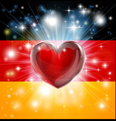 Love germany flag heart background vector