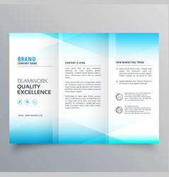 Modern business trifold brochure design in vector