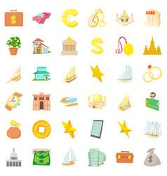 money icons set cartoon style vector image vector image