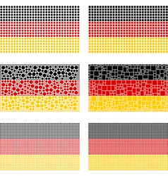 Mosaic germany flag set vector