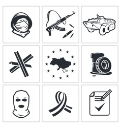 Opposition icon collection vector