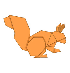 Origami squirrel icon cartoon style vector