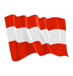 Political waving flag of austria vector