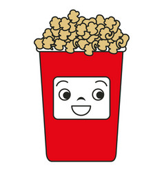 Pop corn kawaii character vector