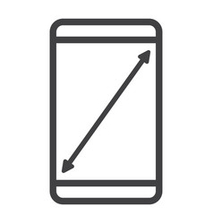 resize mobile screen line icon web and mobile vector image vector image