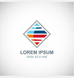 square colored line logo vector image