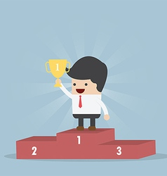The Winner Businessman vector image vector image