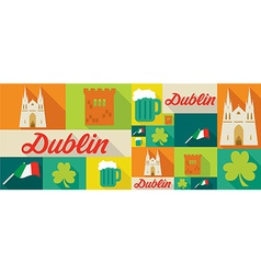 Travel and tourism icons dublin vector