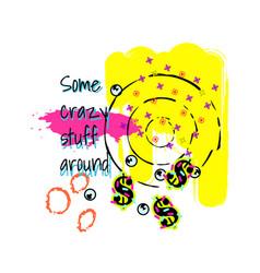 tshirt pop art neon colors design vector image vector image