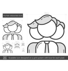 Human resources line icon vector