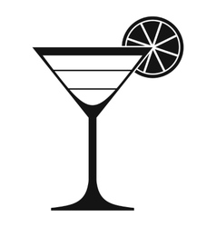 Cocktail icon simple style vector