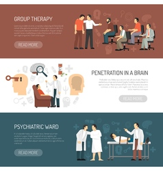 Psychologist Horizontal Banners vector image