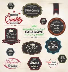 Set of badge and labels 5 vector