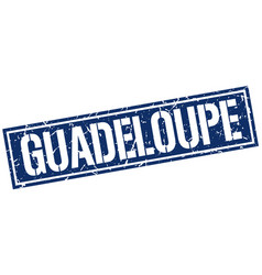 Guadeloupe blue square stamp vector