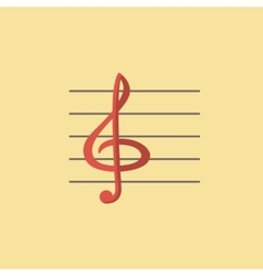 Clef icon vector