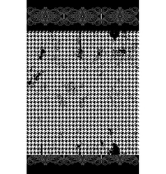Houndstooth pied de poule seamless black and vector