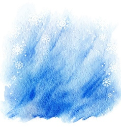 Winter watercolor background light blue sky with vector