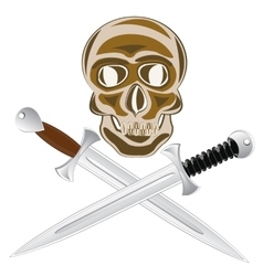 Two sword and skull vector
