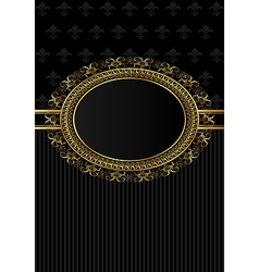 Luxury vintage frame for design packing - vector