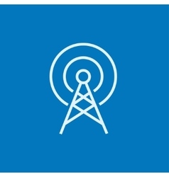 Antenna line icon vector