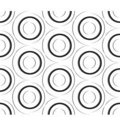 Seamless pattern of paper circles vector