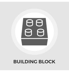 Building block icon vector