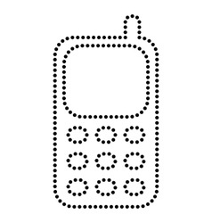 Cell phone sign vector