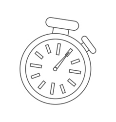 Isolated chronometer design time concept vector