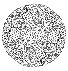 abstract mandala circular monochrome pattern vector image vector image