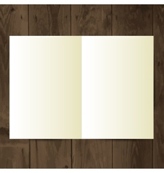 blank magazine on the wooden table vector image