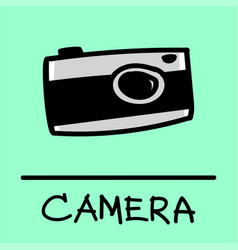 camera hand-drawn style vector image