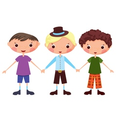 Cartoon children boy vector image