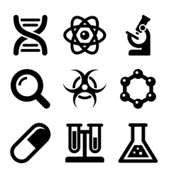 Chemical science icons set vector
