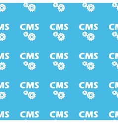 Cms settings straight pattern vector