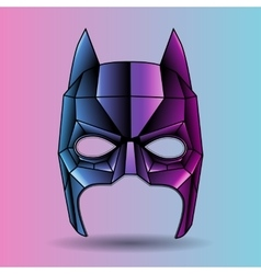 colored mask superhero Batman vector image vector image