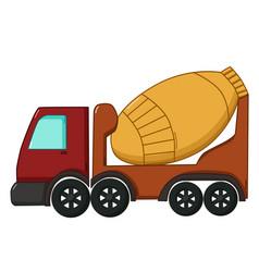 concrete mixer icon cartoon style vector image vector image
