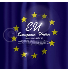 EU Flag Curtain vector image vector image
