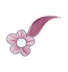flower with leaf decoration design vector image vector image
