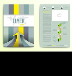 Flyer brochure cover design template vector