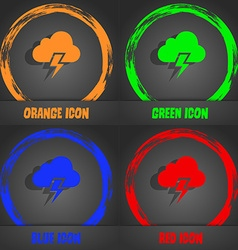 Heavy thunderstorm icon fashionable modern style vector