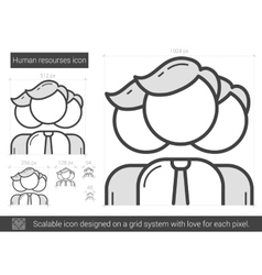 Human resources line icon vector