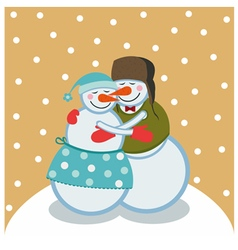 Love snowmen vector