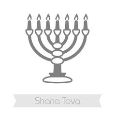 Menorah rosh hashanah icon shana tova vector