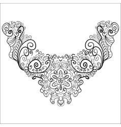 Neck print line design decorative black neck print vector