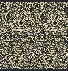 Seamless floral background vintage pattern vector