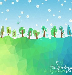 Spring geometric background vector image vector image