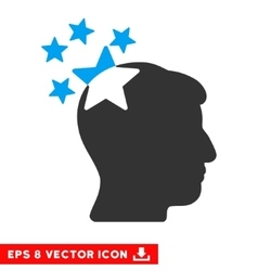 Stars Hit Head Eps Icon vector image