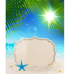 tablet on landscape vector image