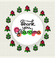 thank you grandma handwritten lettering vector image vector image