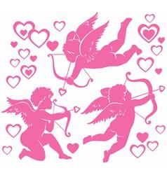 Cupids vector image